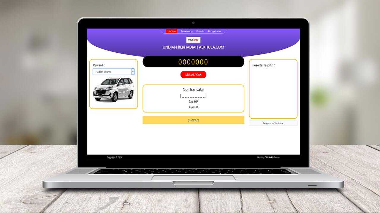 aplikasi undian berbasis web software undian lotere